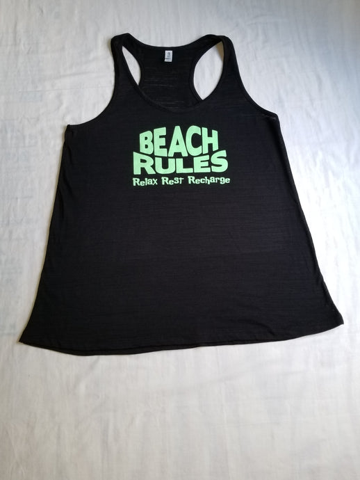 Beach Rules ladies flowy beach racerback tank