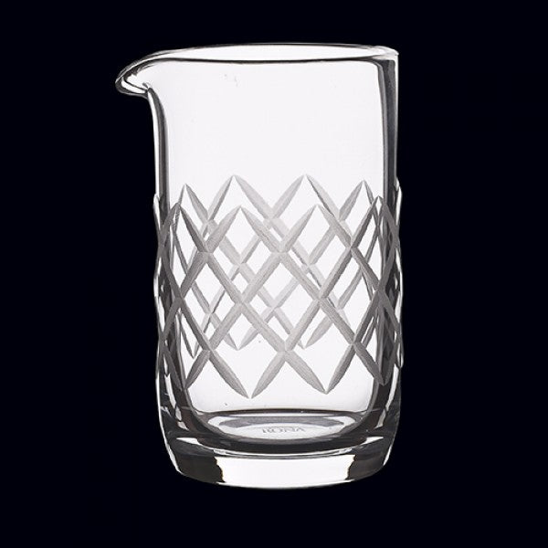 Beaker w/Diamond Cuts (5 3/4 oz) handblown