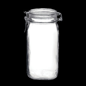 Fido Jar (54 3/4 oz) Clear w/white gasket
