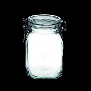 Fido Jar (37 3/4 oz) Clear w/white gasket