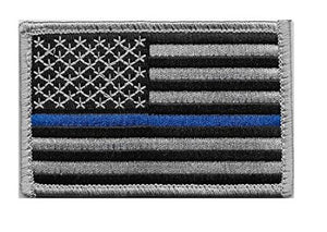 Thin Blue Line American Flag Velcro Patch