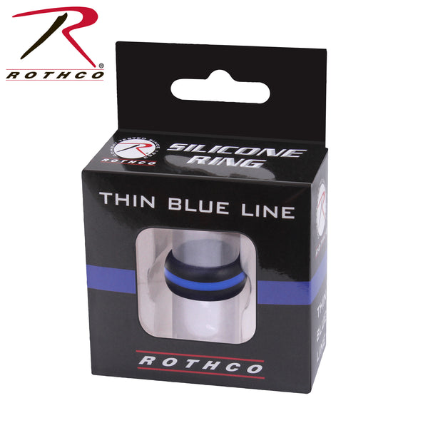 Thin Blue Line Silicone Ring