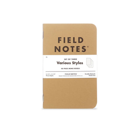 Original Kraft Field Notes 3-Pack