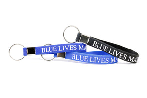 Blue Lives Matter Silicone Keychain