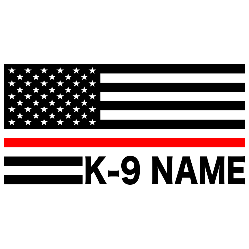 Thin Red Line American Flag Custom K-9 Decal