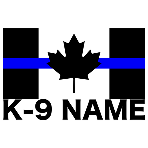 Thin Blue Line Canadian Flag Custom K-9 Decal