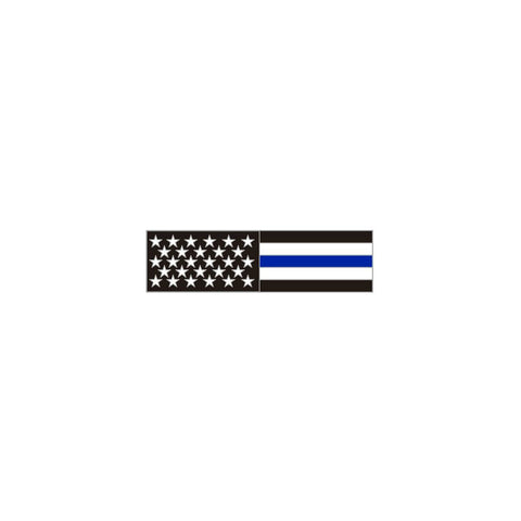 Thin Blue Line American Flag Citation Bar Lapel Pin