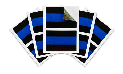 Thin Blue Line License Plate Sticker