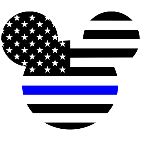 Thin Blue Line American Mickey Flag Decal