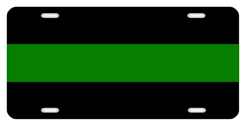 Thin Green Line License Plate
