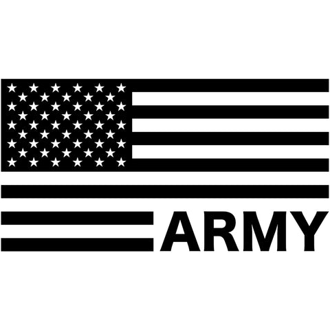 Military Branch American Flag Decal