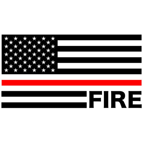 Fire American Flag Decal