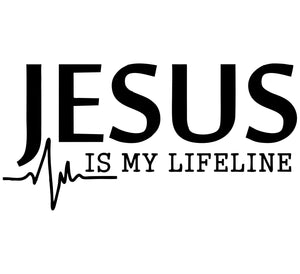 Jesus Is My Lifeline Decal