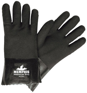 "MEMPHIS 12"" Black PVC Sandy Finish Gloves - 6212SJ"