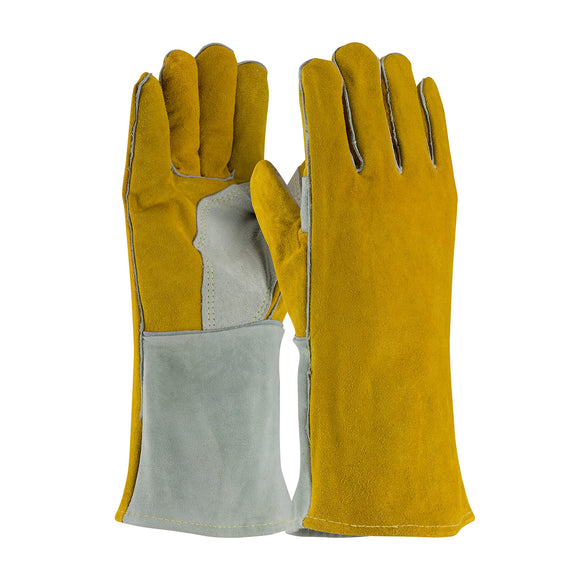 Side Split Cowhide Leather Welder's Glove with Cotton Foam Liner and Kevlar® Stitching