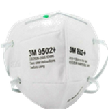 3M™ Particulate Respirator, 9502+N95, Box of 50