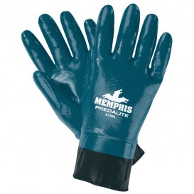 Memphis 9786 Predalite Coated Nitrile Gloves - PVC Coated Safety Cuff