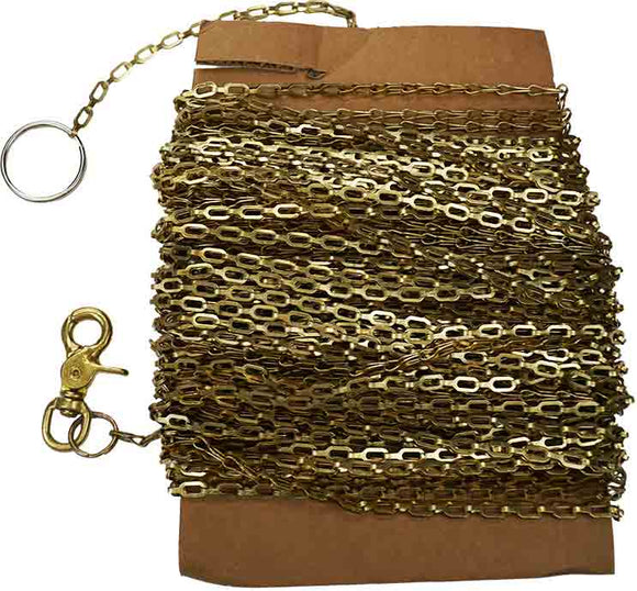 Thief Chain with Fittings, Brass , 100 FT
