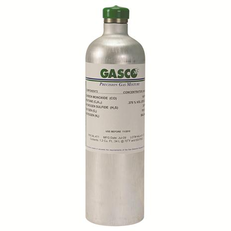 GASCO 34L-PHS-1 Disposable 34 Liter, 1 PPM Phosphine Calibration Gas Cylinder