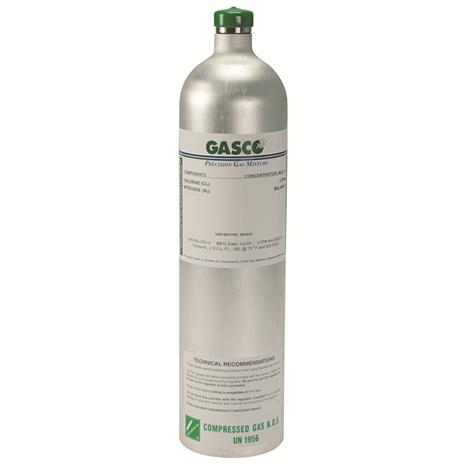 GASCO 58L-411X Disposable 58 Liter 4 Gas Calibration Gas Cylinder