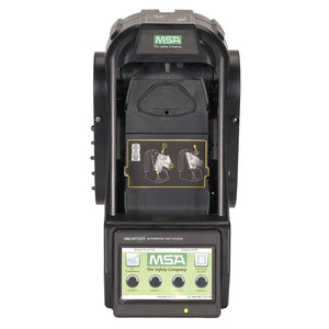 MSA Automated Test System: Audible/Visual, Battery Charging, 15 sec Bump Test Time, 60 sec Calibration Test Time, Black, LCD