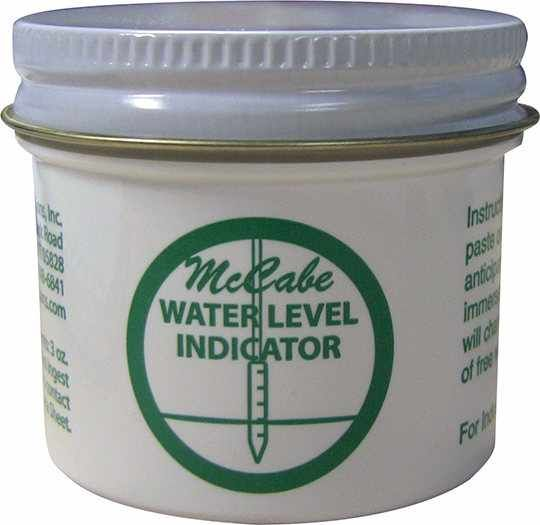 McCabe Water or Gasoline Level Indicator Paste, 3 oz Jar