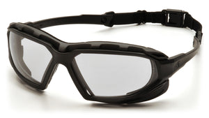 Highlander XP Safety Glass, Anti-Fog Lens with Black/Gray Frame (SBG5010DT)