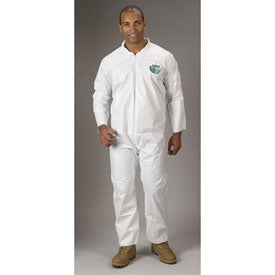 Lakeland MicroMax Coverall, White with Zipper Closure (TG412)