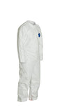 DuPont™ Tyvek® 400 Coverall, Collar, Open Wrists and Ankles, Elastic Waist, White. (TY120SWH)