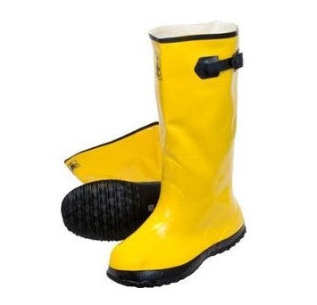 Yellow Heavy Weight Rubber Over the Shoe Slush Boots,  16