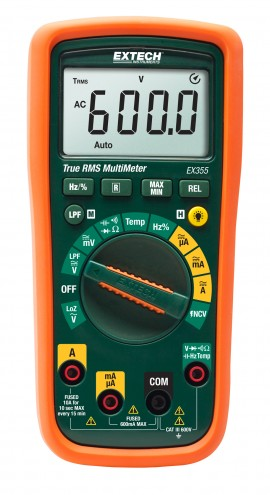 Extech EX355: 12 Function True RMS Multimeter + NCV