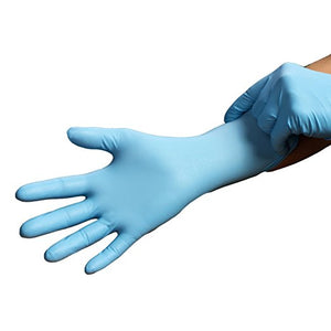 Economy Blue Medical Nitrile Exam Gloves with Textured Grip, Powder-Free, 9.5-Inch, 4mil