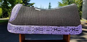 "5 Star 30"" x 30"" All Around Pad - Black / Purple Indiano -  3/4"" Thick"