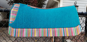 "30"" x 30"" All Around Pad - Turquoise / Serape -  3/4"" Thick - (FF)"