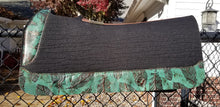 "5 Star 30"" x 30"" All Around Pad - Black / Turquoise Feathers -  3/4"" Thick"