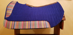 "30"" x 28"" Barrel Pad - Royal Blue / Serape - 1"" Thick [Custom Order-Carol Wurdinger] - *SOLD*"