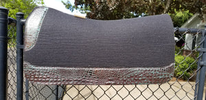 "5 Star 32"" x 30"" Roper Pad - Black / Dark Lagoon Bronze Crocodile"