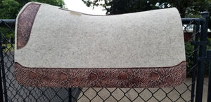"5 Star 32"" x 30"" Roper Pad - Natural / Chocolate Python"