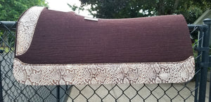 "5 Star 30"" x 30"" All Around Pad - Dark Chocolate / Ivory Python"