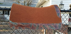 "32"" x 30"" Roper Pad - Cinnamon / Turquoise Mesa Feathers -  3/4"" Thick"
