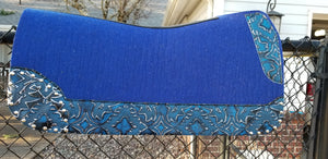 "5 Star 30"" x 30"" All Around Pad - Royal Blue / Royal Blue Laredo - 7/8"" Thick"