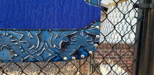 "30"" x 30"" All Around Pad - Royal Blue / Royal Blue Laredo w/Silver Spot Border - 7/8"" Thick"