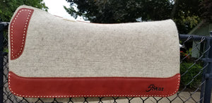 "32"" x 30"" Roper Pad - Natural / Latigo w/ Rose Gold Buckstitch - 3/4"" Thick (FF)"