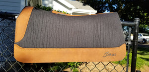"5 Star 30"" x 28"" Barrel Pad - Black / Aged Bark - 3/4"" Thick"
