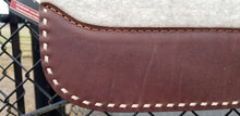 "32"" x 30"" Roper Pad - Natural / Dark Brown w/ Natural Buckstitching -  7/8"" Thick (FF)"