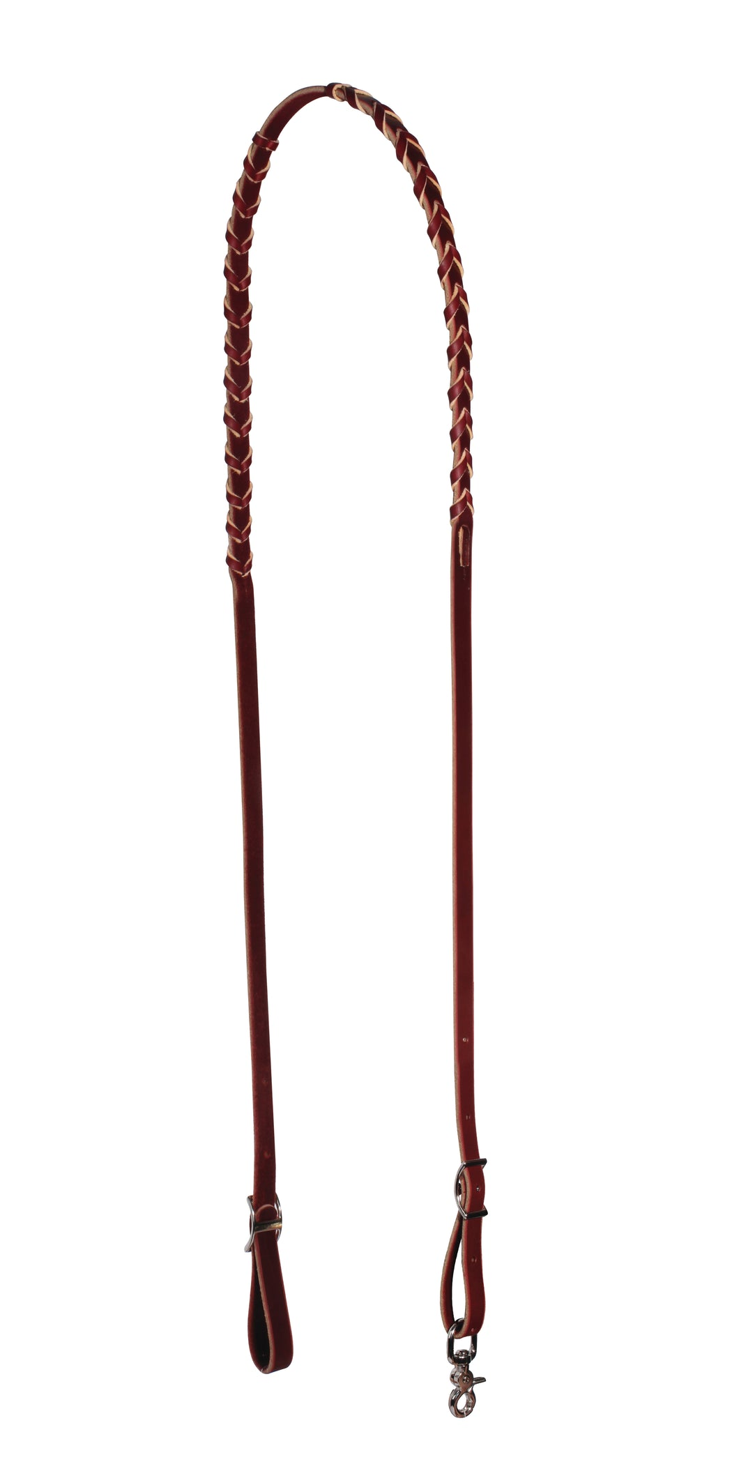 Schutz Leather Laced Barrel Reins