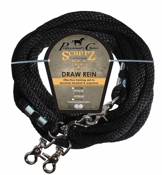 Schultz Leather Poly Rope Draw Reins