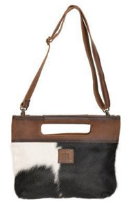 STS Ranchwear Cowhide Flat Rock Clutch