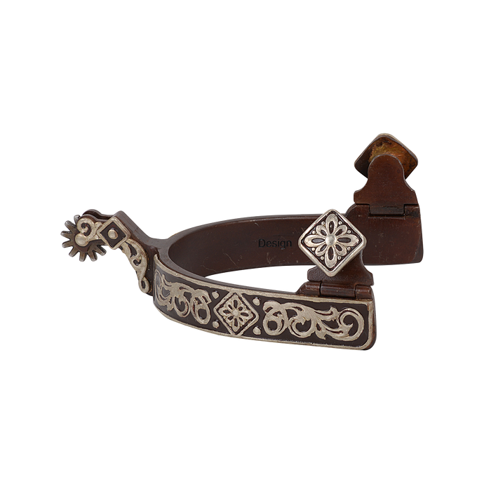 Classic Equine Gist Design Diamond Scroll Spur