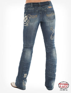 Cowgirl Tuff Double Lucky UnBELIEVEable Cream Jeans